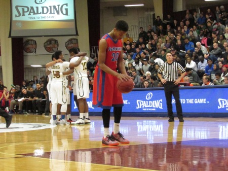 Markelle Fultz at the line in the Hoop Hall Classic.